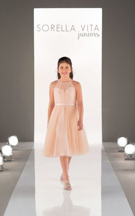 Junior Tulle Bridesmaid Dress - Style J4006