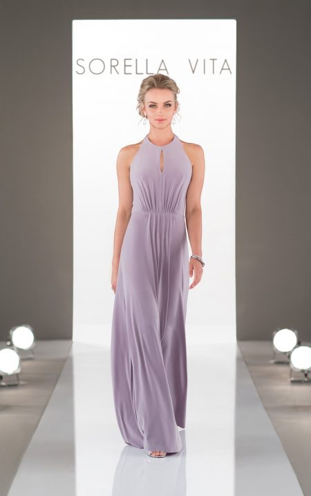 Trendy High Neck Bridesmaid Dress - Style 8956