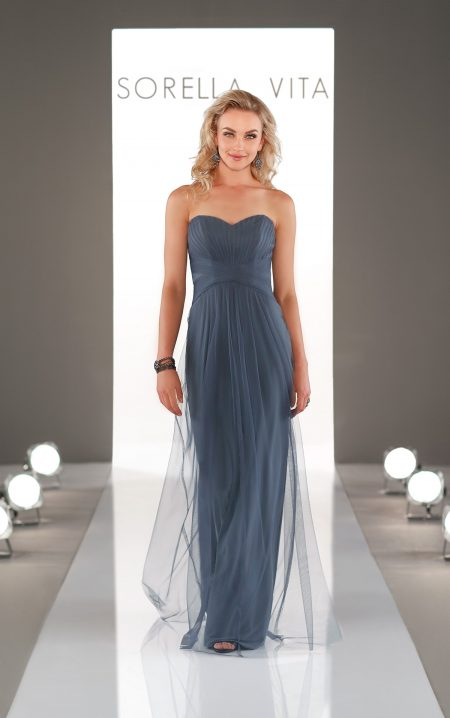 Romantic Soft English Net Bridesmaid Dress