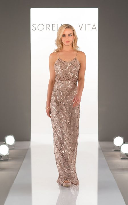 Sorella Vita sequin Bridesmaids dress - Style 9018